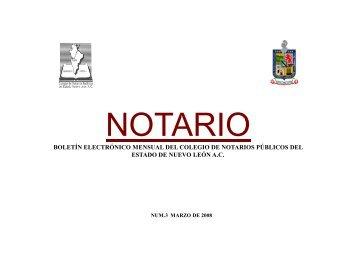 Marzo de 2008 - Colegio de Notarios NL