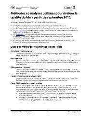 Méthodes et analyses du blé - Commission canadienne des grains