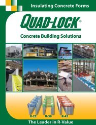 Insulated Concrete Forms by Quad-Lock - ICF for Walls : Brochure