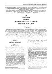 Statut UP 08-3.indd - Univerzita Palackého v Olomouci