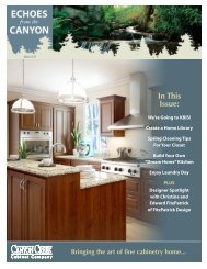 March - Canyon Creek Cabinet Company