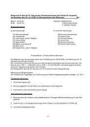 Protokoll der 22. Sitzung des Finanzausschusses am 20.06.2006