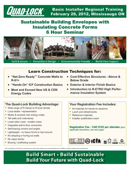 Tuesday, February 28, 2012 Location - Quad-Lock Building Systems