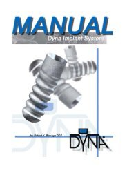 Dyna Implant Manual - Dyna Dental