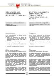 verwaltungs - Consiglio della Provincia autonoma di Bolzano