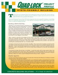 Quad-Lock Kyoto-Friendly ICF Building - Quad-Lock Building Systems