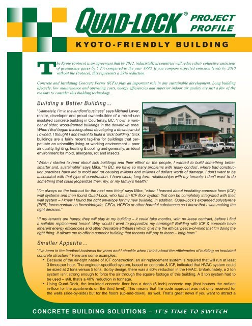 Quad-Lock Kyoto-Friendly ICF Building - Quad-Lock Building Systems