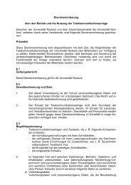 Dienstvereinbarung über den Betrieb und die Nutzung der ...