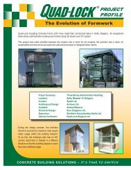 The Evolution of Formwork - Quad-Lock Building Systems
