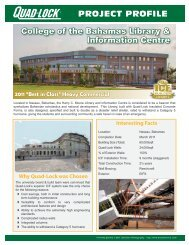 College of the Bahamas Library - Quad-Lock Building Systems
