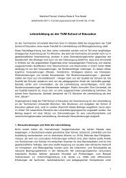 Lehrerbildung an der TUM School of Education