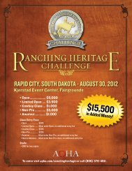 The AQHA Ranching Heritage Challenge - America's Horse Daily
