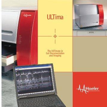 *ULTima Brochure -  Hoefer®, Inc