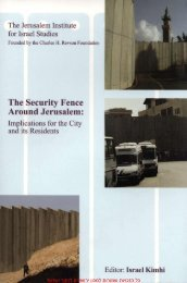 The Operational Regime of the Security Fence Around Jerusalem