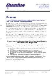 Einladung - Quadus GmbH