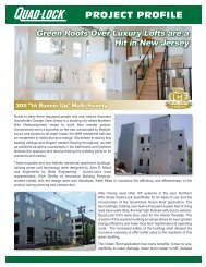 Green Roofs on Luxury Lofts - Quad-Lock Building Systems