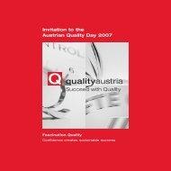 Programme - Quality Austria
