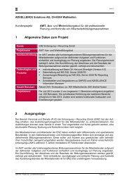 1 Allgemeine Daten zum Projekt 2 Ausgangslage - Advellence