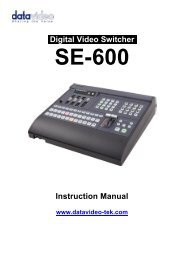 Datavideo SE-600 Instruction Manual A4 - B&H Photo Video