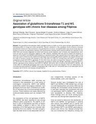 Original Article Association of glutathione S-transferase T1 and M1 ...