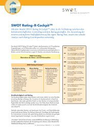 SWOT Rating·R-CockpitTM -  Con-Centro Dr. Arens Consulting