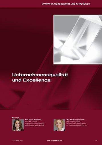 Unternehmensqualität und Excellence - Quality Austria