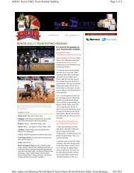 Pitzer Colt Wins 2011 AQHA World Title - Bijou Creek Farm