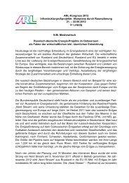 N.M. Meshewitsch Russisch-deutsche Energie-Projekte im ... - ARL