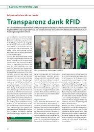 Transparenz dank RFID - All-electronics.de