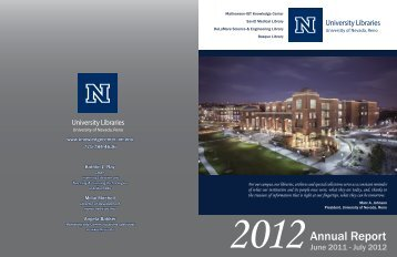 2012 - Mathewson-IGT Knowledge Center - University of Nevada ...