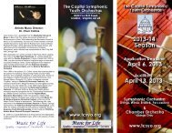 Artistic Music Director: Dr. Cheri Collins - Capitol Symphonic Youth ...