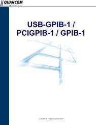 pcigpib-1 - QUANCOM Informationssysteme GmbH