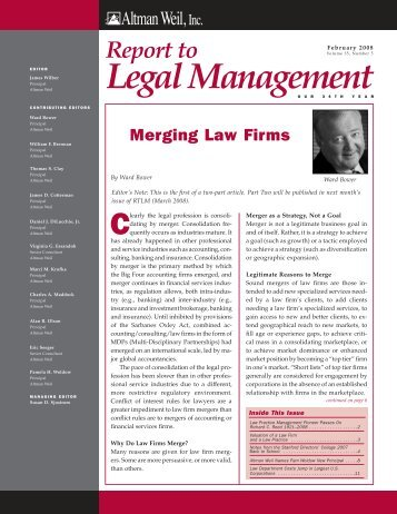Merging Law Firms - Altman Weil