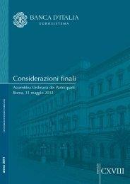 Considerazioni finali del Governatore - Banca d'Italia