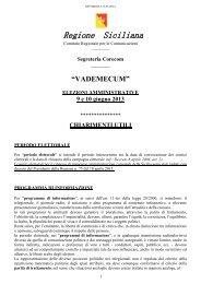 Vademecum Elezioni Amministrative 2013 - Corecom Sicilia