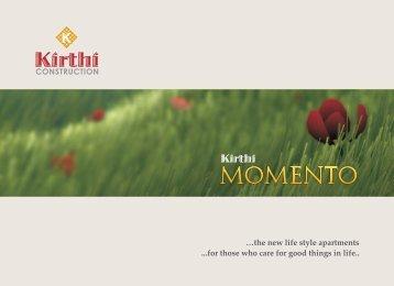 Kirthi Momento e-Brochure - Luxury Flats Udupi