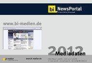 bi-Newsportal Mediadaten 2012