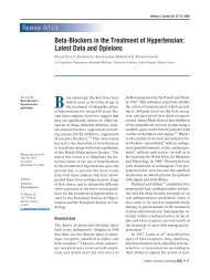 Beta-Blockers in the Treatment of Hypertension - The Hellenic ...
