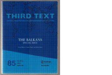 Third Text magazine, 2007, ENG - Nada Prlja