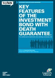 Investment Bond With Death Guarantee Key ... - Legal & General