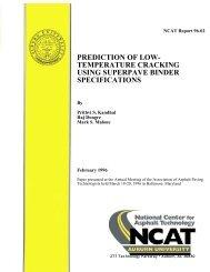 Prediction of Low-Temperature Cracking Using ... - Auburn University