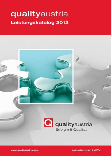 Leistungskatalog 2012 - Quality Austria