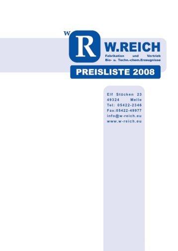 Verkaufsprogramm Juni 2008 - w-reich.eu