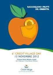 Programma Credit village day 2012 - Adiconsum
