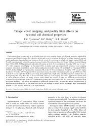 Tillage, cover cropping, and poultry litter effects on selected soil ...
