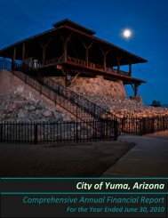 City of Yuma's 2010 Comprehensive Annual Financial Report