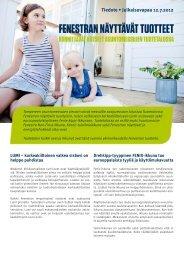 Fenestran näyttävät tuotteet - Asuntomessut