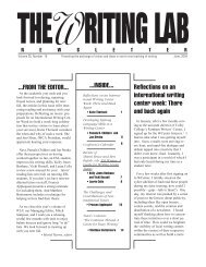 28.10 - The Writing Lab Newsletter
