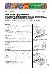 Bruk balkong og terrasse - Hageselskapet