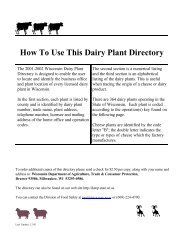 How To Use This Dairy Plant Directory - Understanding Dairy Markets